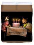 Cat - It's Our Birthday - 1914 Duvet Cover