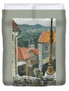 Cat Of The Town Of Kotor Duvet Cover