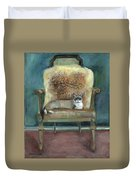 Cat On A Chair Duvet Cover