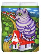 Cat On A Red Tin Roof Duvet Cover