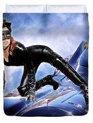 Cat On Bat Mobile Duvet Cover