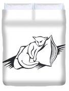 Cat On Pillow Duvet Cover