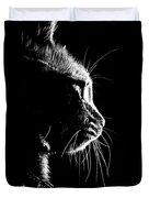 Cat Silhoette Duvet Cover