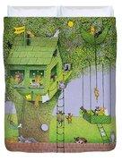 Cat Tree House Duvet Cover