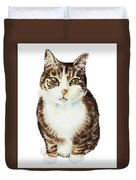 Cat Watercolor Illustration Duvet Cover
