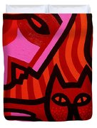 Cat Woman Duvet Cover