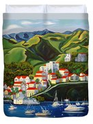 Catalina Island 2 Duvet Cover by Milagros Palmieri