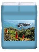 Catalina Island Coastline Duvet Cover
