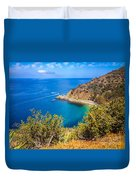 Catalina Island Lover's Cove Picture Duvet Cover