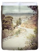 Catalina Island Mountain Road Picture Duvet Cover