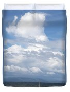 Catamaran Beach Clouds Duvet Cover