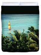 Catamaran On Tumon Bay Duvet Cover