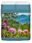 Catawba Rhododendron At The Craggy Duvet Cover