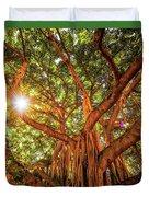Catch A Sunbeam Under The Banyan Tree Duvet Cover