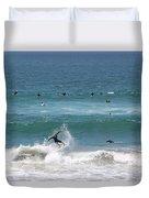 Catching Air In Huntington Beach California Duvet Cover