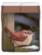 Catching Snowflakes Duvet Cover