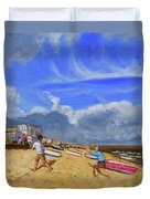 Catching The Ball, St Ives Duvet Cover