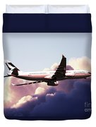 Cathay Pacific Airbus A330-343 Duvet Cover