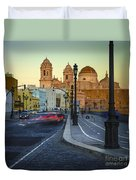 Cathedral From Campo Del Sur Cadiz Spain Duvet Cover