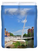 Cathedral Green Bridge At Derby Duvet Cover