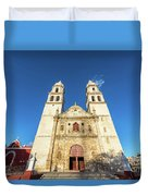 Cathedral In Campeche Duvet Cover