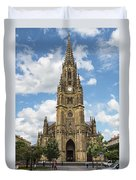 Cathedral In San Sebastian Is The Largest Religious Structure In The Basque Country Duvet Cover