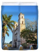 Cathedral In Valladolid Duvet Cover