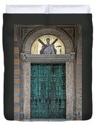 Cathedral Of Amalfi Door Duvet Cover