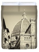 Cathedral Of Brunelleschi In Florence Duvet Cover