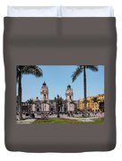 Cathedral Of Lima Duvet Cover