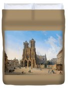 Cathedral Of Notre-dame At Reims Duvet Cover