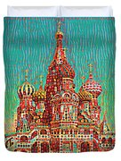 Cathedral Of St. Basil, Moscow Russia Duvet Cover