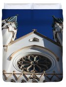 Cathedral Of St John The Babtist In Savannah Duvet Cover