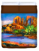 Cathedral Rock Afternoon Duvet Cover by Elise Palmigiani