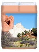 Cathedral Rock In Garden Of The Gods Park Duvet Cover