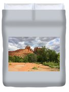 Cathedral Rock With Clouds Duvet Cover