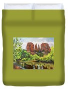 Cathedral Rocks In Crescent Moon Park Duvet Cover