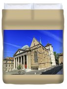 Cathedral Saint-pierre In The Old City, Geneva, Switzerland Duvet Cover