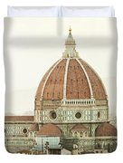 Cathedral Santa Maria Del Fiore At Sunset, Florence. Duvet Cover