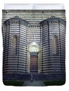 Cathedral Side Door Orvieto Italy Duvet Cover