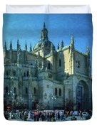 Cathedral, Spain Duvet Cover