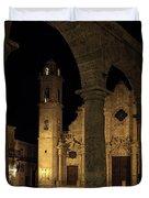 Cathedral Square Havana Cuba Duvet Cover