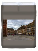 Cathedrale Notre-dame Or Our Lady Place, Strasbourg, France Duvet Cover