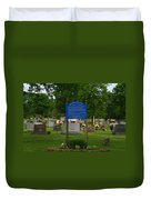 Catholic Cemetery Duvet Cover