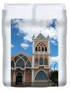 Catholic Church In Ibarra Duvet Cover