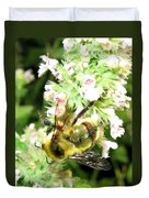 Catnip And The Bee Duvet Cover