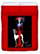Catrina With Greyhound Duvet Cover