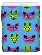 Cats And Rabbits Duvet Cover