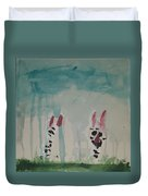 Cats In The Rain Duvet Cover