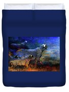 Cats On The Prowl Duvet Cover